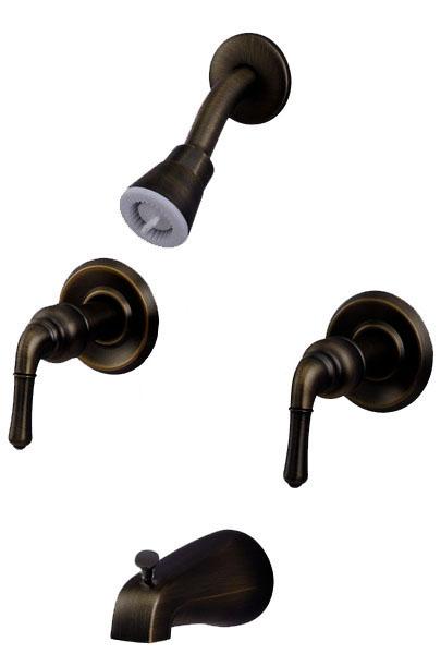 Details about Oil Rubbed Bronze 2 Handle Tub & Shower Faucet 34528